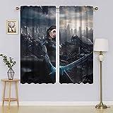 Alita Battle Angel Cortinas opacas anchas, bajo consumo, cortina de bajo consumo para sala de estar, 42 x 54 pulgadas