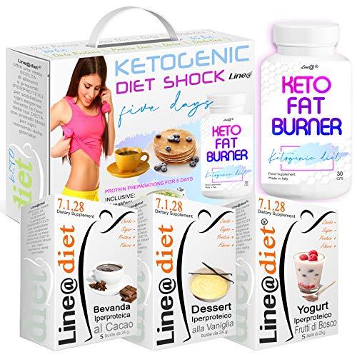KETOGENIC Diet Shock | D-KETO D | con all'interno il POTENTE KETO Fat Burner Line@ | DIETA URTO per 5 GIORNI | PERDI PESO VELOCE !
