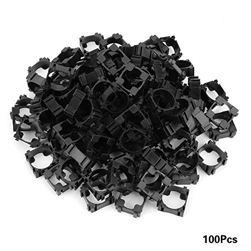100pcs 18650 Lithium-Batterie Halter,18,4mm/0,7Zoll Ionen Akku-Verbinder Batterie Halter Bracket, Kunststoff akku zapfenhalterung zelluläre Zelle Batterie Stehen Zelle Spacer für DIY Feste Batterie