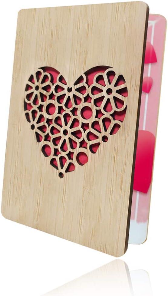 Tarjeta de amor de aniversario Tarjeta de San Valent/ín feliz Tarjeta de felicitaci/ón de mam/á A Tarjeta de Felicitaci/ón de Madera Tarjeta de madera de bamb/ú