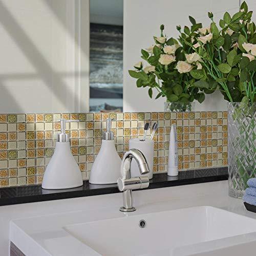 3D Carta da Parati Mattoni Bianco,Adesivi per piastrelle bagno, adesivi murali cucina bagno, carta da parati rimovibile autoadesiva-ZYM-004_10X10 CM