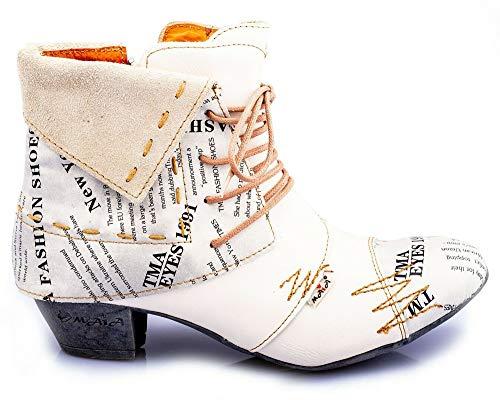 TMA 6106 Damen Stiefeletten Leder Weiss - EUR 40