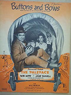song sheet BUTTONS AND BOWS The Paleface 1958