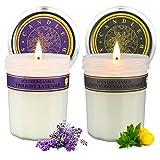 Juego de velas de aromaterapia para mujeres, velas perfumadas de cera de soja con aroma premium, velas navideñas, regalos, cumpleaños, fiestas, 2 paquetes, cada uno de 7.5 oz