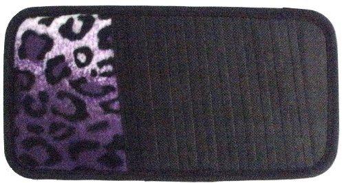 LA Auto Gear Purple Leopard Animal Print 10 CD/DVD Car Visor Organizer