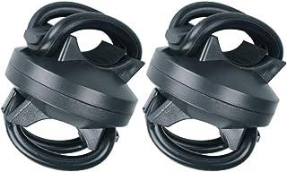 LIOOBO 2pcs Flashlight Holder 360 Degree Adjustable Universal Bike Flashlight Lamp Mount Clamp Stand Holder for Bicycle Black