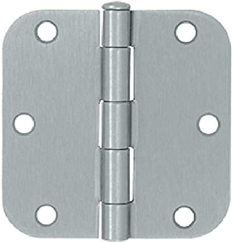 lowest Deltana popular new arrival S35R526D Residential Thickness Steel 3 1/2-Inch x 3 1/2-Inch x 5/8-Inch Radius Hinge sale