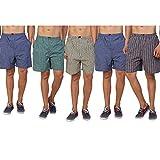 DIGITAL SHOPEE Men\s Cotton Shorts Boxers, Pack of 5 (Medium, Multicolour)