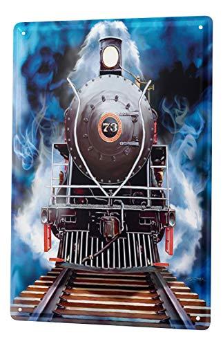 LEotiE SINCE 2004 Blechschild Eisenbahn Modell Deko Lokomotive Nostalgie Wand Deko Schild 20x30 cm Vintage Retro Wanddekoration