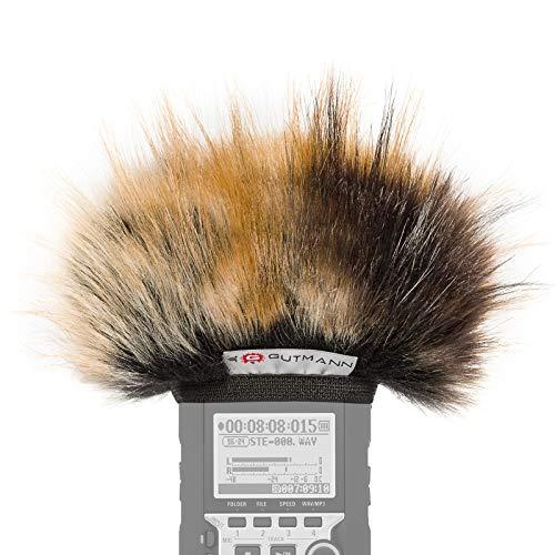 Gutmann Mikrofon Windschutz für Olympus LS-14 Premium Edition Tiger mit Innenfutter
