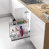 Casaenorden - Bandeja extraíble Organizador de Productos de Limpieza bajo Fregadero