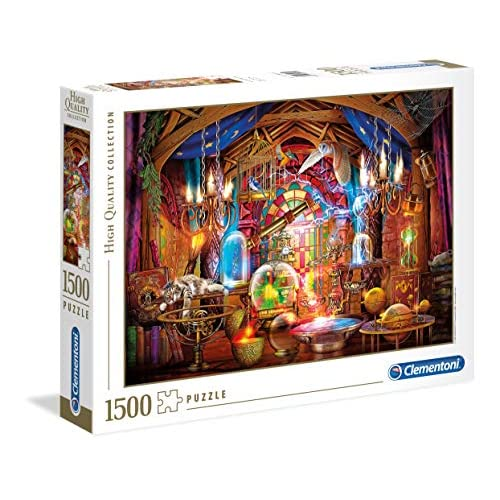 Clementoni - 31813 - High Quality Collection Puzzle - Wizard Workshop - 1500 Pezzi - Made In Italy - Puzzle Adulto