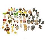 SIX VANKA Miniature Animals 65pcs Mini Resin Decoration Set for Childrens Birthday Party Kids Presents Doll...