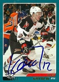 Autograph Warehouse 67100 Ales Kotalik Autographed Hockey Card Buffalo Sabres 2003 O-Pee-Chee No. 24