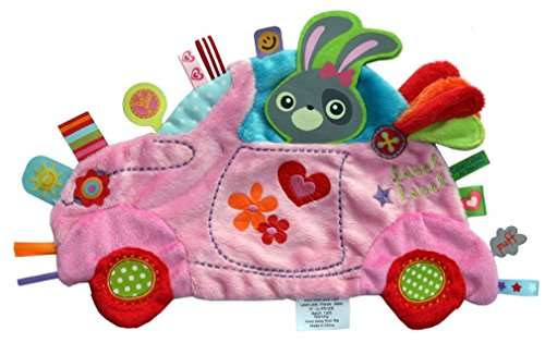 Label-Label-LL-HO1352 Holiday doudou Voiture Rode peluche