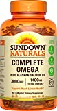 Sundown Naturals Complete Omega 1400 mg, 90 Softgels - Buy Packs and Save (Pack of 2)