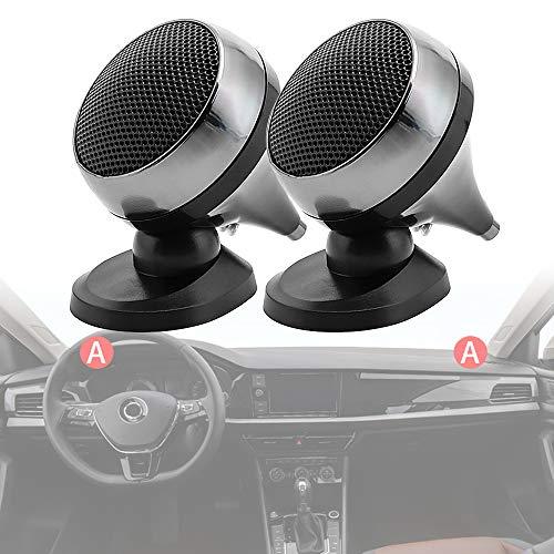 ePathChina 2pcs Universal Car Tweeter Speaker 150W 4Ohm Audio Silk Film for...