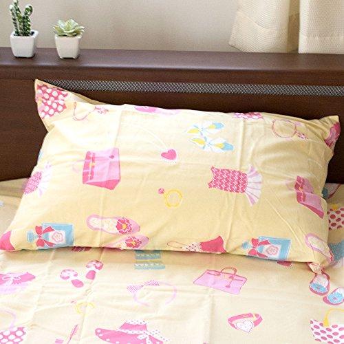 【女の子にピッタリの綿100%カバー】 枕カバー 43×63cm 綿100% Westy 日本製 『 オズガール2 』 ガールズ コレクション 柄 イエロー かわいい ピローケース 43 63