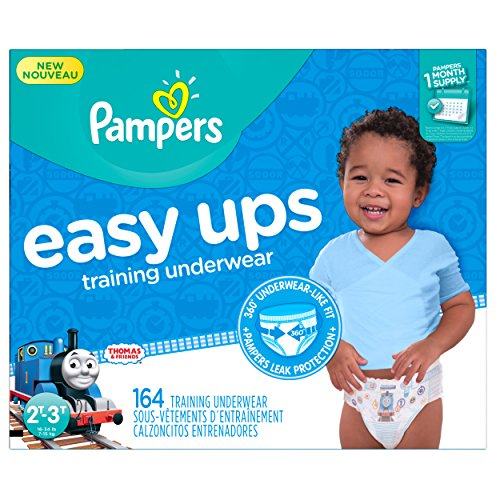 Price comparison product image Pampers Easy Ups Training Pants Pull On Disposable Diapers for Boys Size 4 (2T-3T),  164 Count,  ONE MONTH SUPPLY