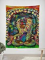 Home Decor Tapestry Wall Art Meditating 150x180cm