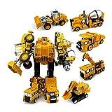 ghjkl Juguêtês Dê Trànsfōrmêrs, 5 IN1 Transformación Robot Coche Metal Alloy Engineering Construction Juguete Juguete