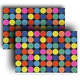 Juego de 2 felpudos de 40 x 60 cm, multicolor con estampado...