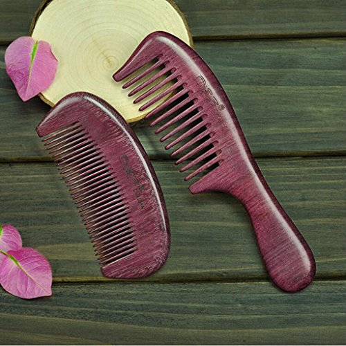 Entero de madera violeta de madera de peinados caja de regalo lettering pareja en el peine de boda regalo recto conjunto de cabello ( Color : #2 )