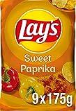Lay's Sweet Paprika – Knusprig gewürzte Kartoffelchips für eine gelungene Party – 9 x 175g