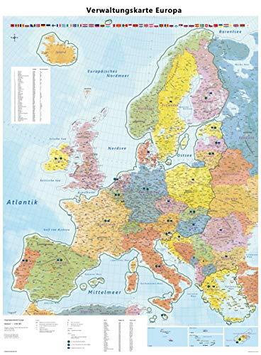 Große Europakarte mit Laminierung (beschreib- und abwischbar): Maßstab 1:4.000.000, Poster von Europa mit Bundesländern und Schengenraum, Auflage 2020 Brexit