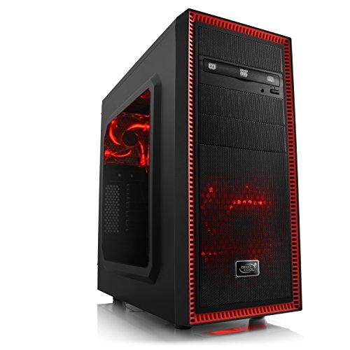 Gaming PC CSL Speed 4874 - Leiser Gamer PC mit Intel Core i7-6700 4x 3400MHz, 16GB DDR4 RAM, 250GB SSD, 1000GB HDD, GeForce GTX 960, DVD, USB 3.0, ohne Betriebssystem