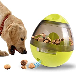 IQ Treat Ball,Interactive Food Dispensing Ball for Dogs Cats Snack Dispenser Tumbler Food Feeder Pet Wobbler Toy(3.9In x 4...