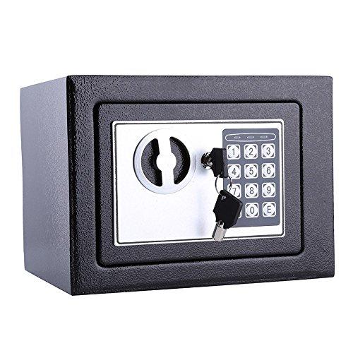 Caja fuerte de valor pequeño, cerradura de seguridad de 6.4L, caja de almacenamiento digital para guardar dinero en efectivo, monedas, joyería, caja de seguridad, caja de seguridad de acero sólido, fi
