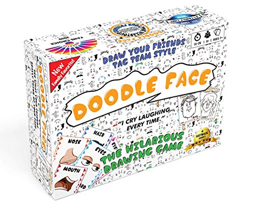 Doodle Face! A Hilarious Game of Drawing Your Friends and Family! Best Party Game! 3-20 Players! A New Best Rated Gatwick Games Addition!