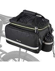 WESTGIRL Fietstas, bagagedragertas, zadeltas, 10-25 l, multifunctionele rugzak, handtas, duurzaam nylon met waterdichte regenbestendige afdekking