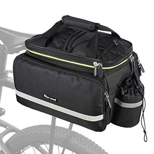 35L Bike Storage Bag Double Side Pannier Bags,Waterproof Cargo Rack Pack Saddle Bag Shoulder Bags...