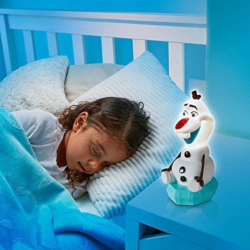 Frozen Olaf 2in1 Nachtlicht + Taschenlampe Nachttischlampe Lampe Die Eiskönigin Anna ELSA