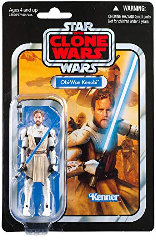 """Star Wars The Vintage Collection OBI-Wan Kenobi Toy, 3.75"""" Scale The Clone Wars Figure"""