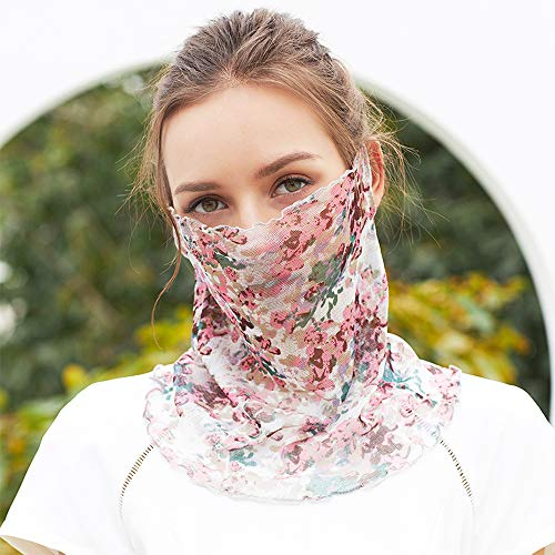 XXCC Damen Winddichte Gesichtsmaske Multifunktionaler Schlauchschal Kopftuch Gedruckt Haarband Headwrap Motorrad Sturmhaube Sport Halstuch