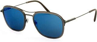 Bulgari 0BV5041 19555 56 Gafas de sol Gris (Matte GreyDarkblueemirrorbluee) Unisex-Adulto