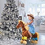 PonyCycle Officiel Jouet en Peluche de la Prime K Série Marche Animal Cheval Brun avec Une Longue crinière pour 3-5 Ans Petite Taille K32