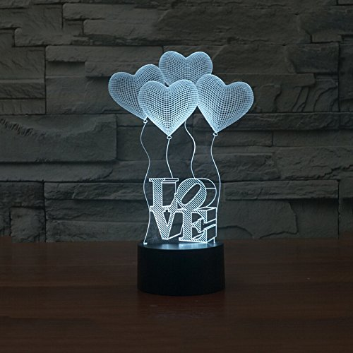 3D illusie Light Night Illusion tafellamp Mano van Schaar Deco LED tafellamp nachtlampje 16 kleuren tattoo lamp bedlampje met USB-kabel