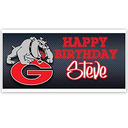 Georgia Bulldogs College Football Birthday Banner Party Decoration Backdrop