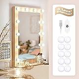 Luci da Specchio Hollywood Style LED Vanity Mirror, Luci Specchio per Trucco Fai da Te, Ap...