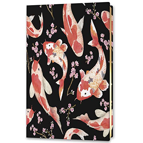 Tools4Wisdom Planner 5x8 - Durable Soft Cover - 12 Month Non Dated Calendar - Monthly Weekly Daily Planner - 2021 Undated Edition - SC21 - Japanese Koi