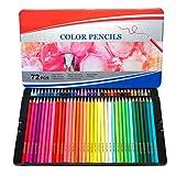 Matite colorate,Matite colorate per adulti,36 Pezzi Set di Matite Colorate Professionali da Disegno,Matite Acquarellabili,Colori Solubili e Assortiti,Fornire a Artista Professionale, Principianti,72