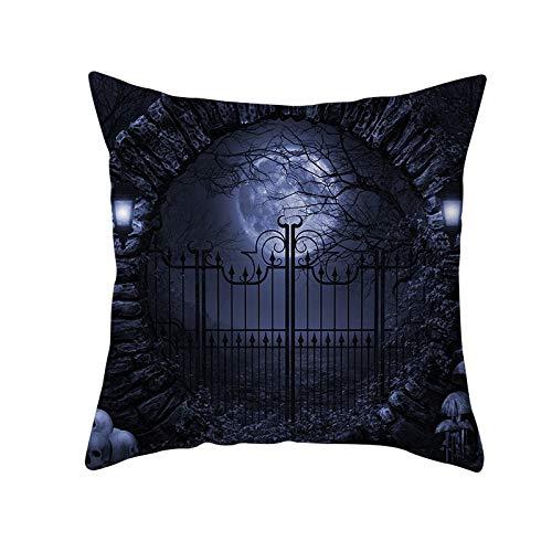 Jingpyij Fodera per Cuscino Cuscini Divano Moonlight Velluto Morbido Decorativa Quadrati Federa con Stampa Fronte-Retro per Sedia Camera da Letto Auto Copricuscini M12556 Pillowcase,55x55cm