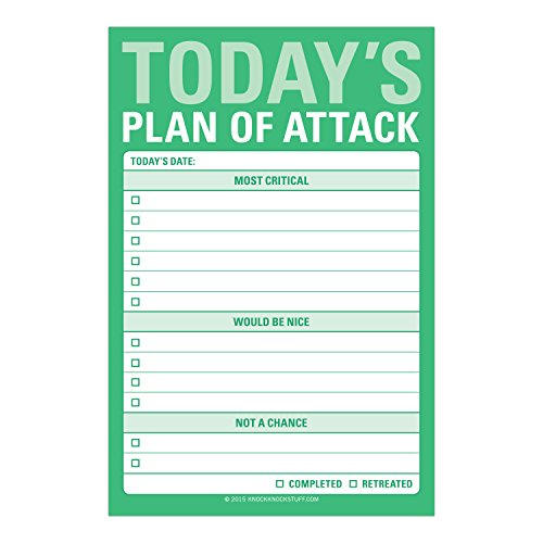 Knock Knock Plan of Attack Great Big Sticky Note, Daily to-Do List Sticky Pad, 4 x 6-inches Photo #3