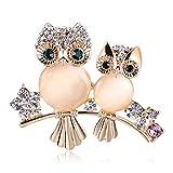 Comelyjewel Brooch Owl Shape Rhinestone Covered Crystal Beauty Brooch Pin Scarves Shawl Clip For Women Ladies