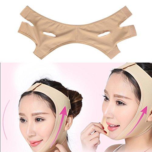 Visage Masque Minceur, visage de masque de cou de beauté lèvent la ligne mince de visage de forme réduisent le double costume de bandage de menton pour la femme et l'homme(L)