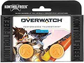 KontrolFreek Overwatch for PlayStation 4 (PS4) and PlayStation 5 (PS5) | Performance Thumbsticks | 1 High-Rise Convex, 1 M...
